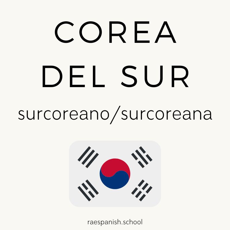 Corea del Sur: surcoreano/surcoreana