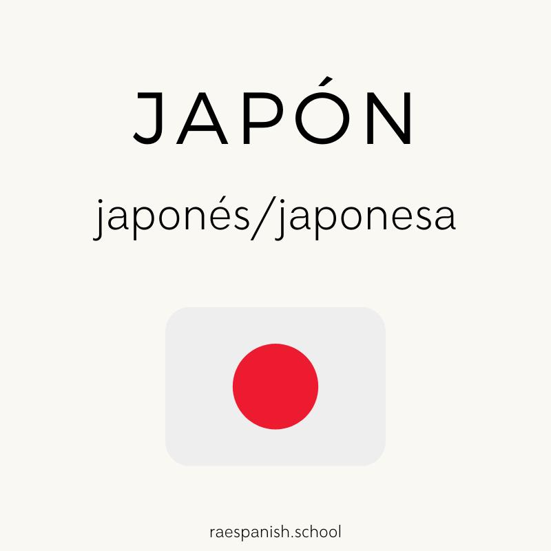 Japón: japonés/japonesa