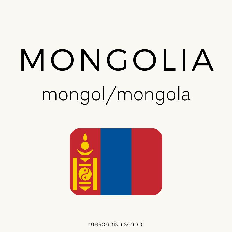 Mongolia: mongol/mongola